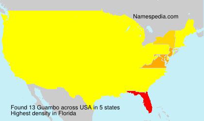 Surname Guambo in USA
