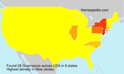 Surname Guarnaccio in USA