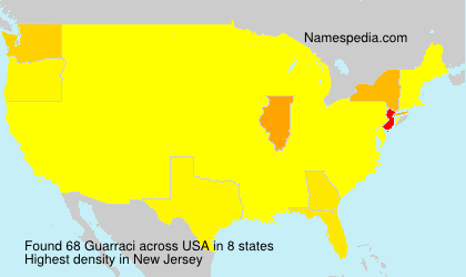 Surname Guarraci in USA