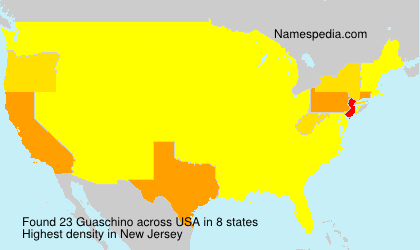 Surname Guaschino in USA
