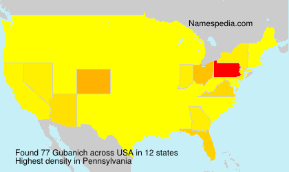 Surname Gubanich in USA