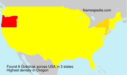 Surname Gubchak in USA