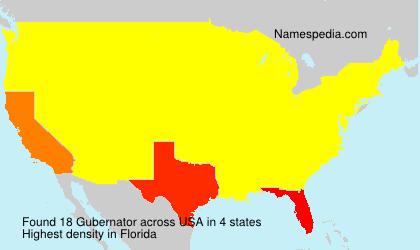 Surname Gubernator in USA