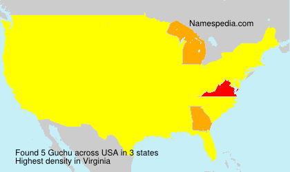 Surname Guchu in USA