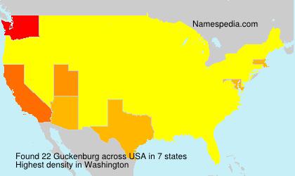 Surname Guckenburg in USA