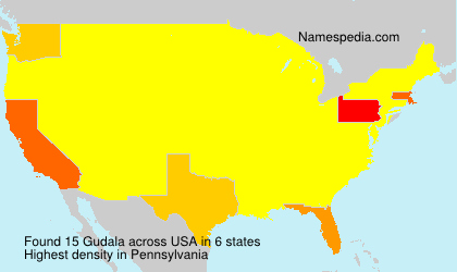 Surname Gudala in USA