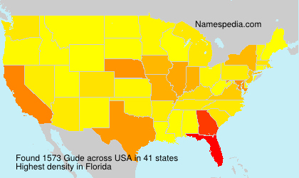 Surname Gude in USA