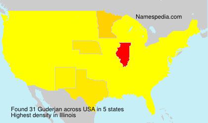 Surname Guderjan in USA