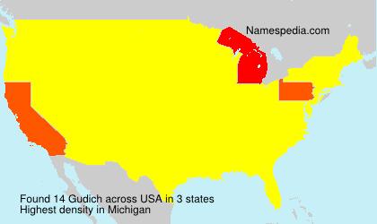Surname Gudich in USA