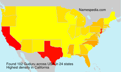 Surname Guduru in USA