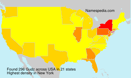 Surname Gudz in USA