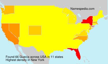 Surname Guecia in USA