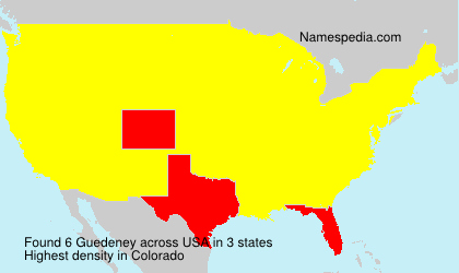 Surname Guedeney in USA