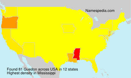 Surname Guedon in USA