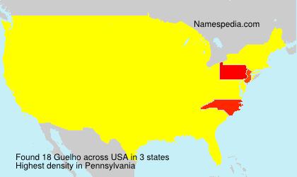 Familiennamen Guelho - USA