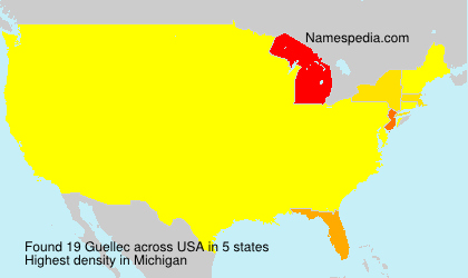 Surname Guellec in USA