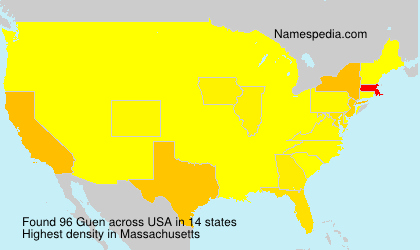 Surname Guen in USA