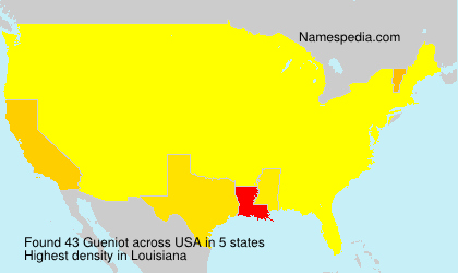 Surname Gueniot in USA