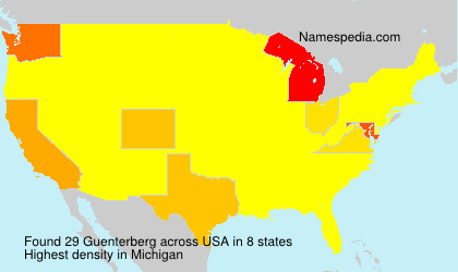 Surname Guenterberg in USA