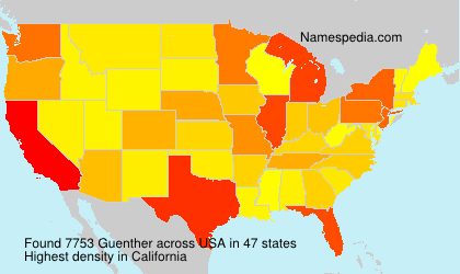 Surname Guenther in USA