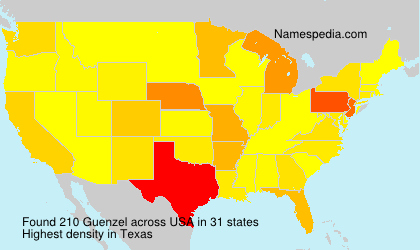Surname Guenzel in USA