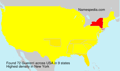 Surname Guererri in USA