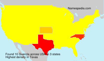 Familiennamen Guerola - USA