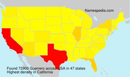 Surname Guerrero in USA