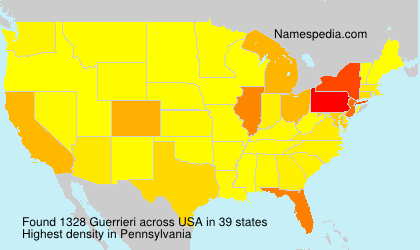 Surname Guerrieri in USA