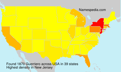 Surname Guerriero in USA