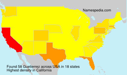Surname Guetierrez in USA