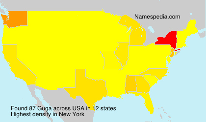 Surname Guga in USA