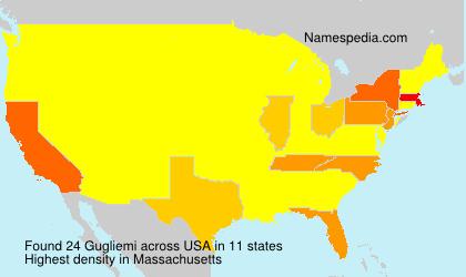 Surname Gugliemi in USA