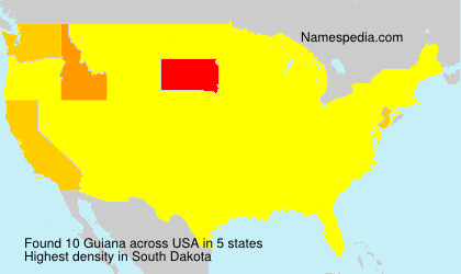 Surname Guiana in USA