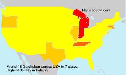 Familiennamen Guichelaar - USA