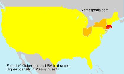 Surname Guigni in USA