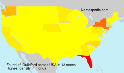 Surname Guildford in USA