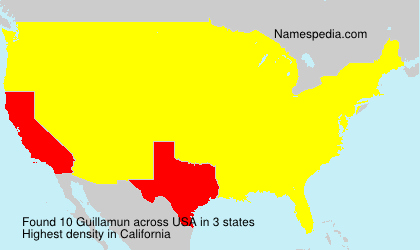 Surname Guillamun in USA