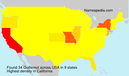Surname Guillemot in USA