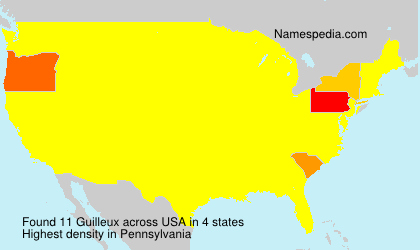 Surname Guilleux in USA