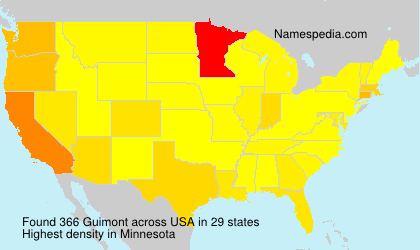 Surname Guimont in USA