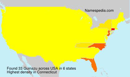 Surname Guinazu in USA