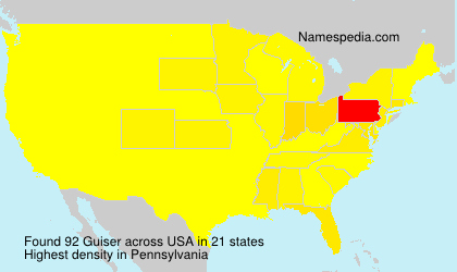 Surname Guiser in USA