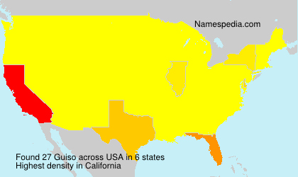 Surname Guiso in USA