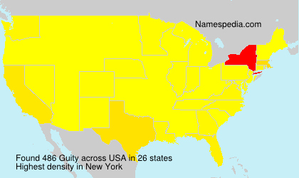 Surname Guity in USA