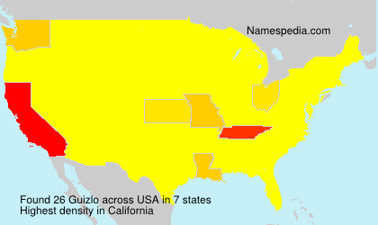 Surname Guizlo in USA