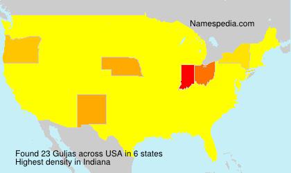 Surname Guljas in USA
