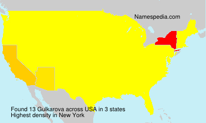 Surname Gulkarova in USA