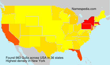 Surname Gulla in USA