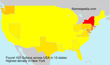 Surname Gullace in USA